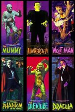 6 x Aurora Monster Kits Frankenstein,The Mummy, Dracula Sticker, Magnet