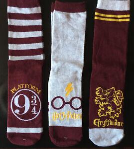 3 wunderschöne verschiedene Paare Socken - Harry Potter Gr. 39-42