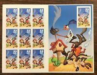 3392 Roadrunner & Wile E. Coyote  Die Cut Sheet of 10  33 c stamp.