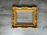 12x16 Matte Gold Picture Frame, Ornate Baroque Wall Picture Frame