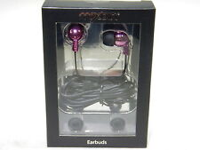 Headphone Electro-dipped Metallic In-Earbuds w/ Mic Remote Control PINK T3