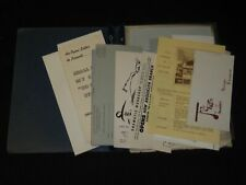1950'S MARIA LEY PISCATOR ARCHIVE - INCLUDES PROGRAMS, BROCHURES+++ - J 5352