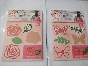 Caring Thoughts Layering Dies 2 sets Butterflies and Rose