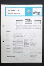 TELEFUNKEN MUSIKUS 5090 Phono-Service/Schaltplan! o44
