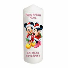 "CELLINI Bougies UNIQUE disney anniversaire 6"" Mickey Minnie Mouse Keepsake #1"