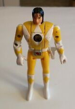 Mighty Morphin Power Rangers Auto Flip Head Yellow Trini 1993 MMPR Bandai Clean!