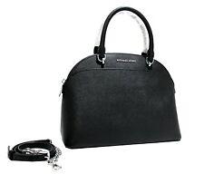 Michael Kors EMMY Large Domed Satchel Saffiano Leather Bag Handbag Black $378