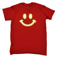 Funny Kids Childrens T-Shirt tee TShirt - Smile Face Glow In The Dark