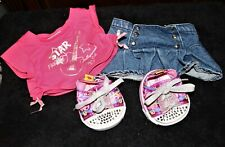 Babw Outfit & Shoes Twinkle Toes Sneakers by Skechers for Build-A-Bear
