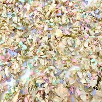 Biodegradable Wedding White Delphinium Dried Petals + Pink Pastel Lilac Confetti