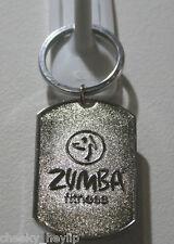Zumba I'm I am Zin Chrome Silver Metal Keyring keychain