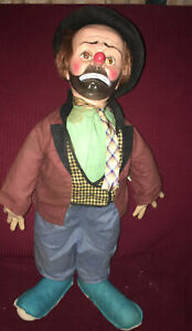 """Vintage """"Willie the Clown"""" Hobo Doll by Emmett Kelly / Baby Barry Toys"""