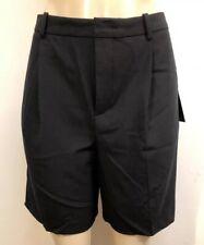 "NWT Zara Black Pleated Wide Casual CLASSIC  Shorts Fashion S  Waist Is 28"" #1010"