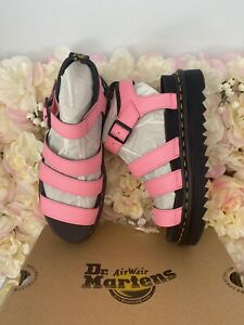 Dr Martens Leather Blaire Pink Sandals UK 6.5 BRAND NEW Discontinued RARE