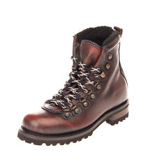 RRP €540 DSQUARED2 Leather Combat Boots Size 44 UK 10 US 11 Grainy Made in Italy
