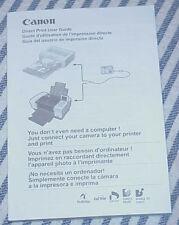 Direct Print Guide = Canon PowerShot A520 / PowerShot A510 Digital Camera
