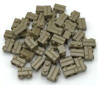 Lego 50 New Dark Tan Bricks Modified 1 x 2 with Masonry Profile Bricks Profile
