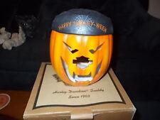 Harley-Davidson Halloween Pumpkin/Jack-o-Lantern Candle Holder RARE