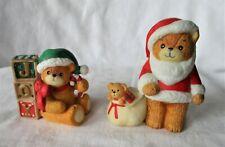 (2) Vintage Lucy & Me-Enesco-Santa Christmas-Bear 1980, 1994