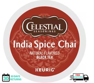 Celestial Seasonings India Spice Chai Keurig Tea K-cups YOU PICK THE SIZE