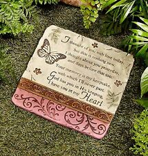 Memorial Stepping Stone I THOUGHT OF YOU Setiment Garden Remembrance Marker