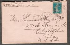 1919 cover ship SS Cotteral France Marseille to Philadelphia Thomas Bleyer