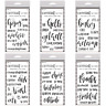 """Ranger LETTER IT Clear Stamp Set 4""""x6""""- Multiple Greetings Stamps You Choose NEW"""