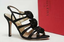 VALENTINO CAGE SATIN SANDALS HEEL PUMP SHOES 35/4.5 $795
