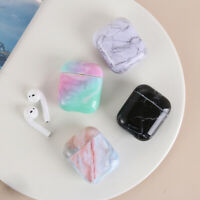 Protective Case Cover Hard PC Marble Pattern Bag Shell For Apple AirPods 1 2