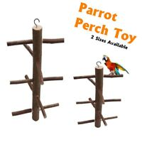 Rotating Wood Stairs Swing Pet Perch Play Toy Hanging For Bird Parrot Macaw