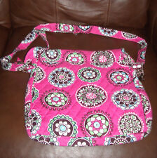 """Vera Bradley Pink Purse with magnetic clasp  (approximately 13""""h X 12""""w)"""