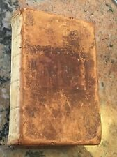 "Circa 1847 Leather Holy Bible Pre-Civil War 4.25"" X 7"""