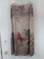 LAPIS SzM Skirt-Below the Knee Length-Jersey Knit (poly/spandex)  Floral Design