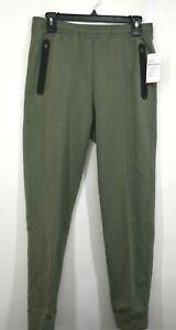 Old Navy Active Boys Green Fleece 4 Way Stretch Joggers Zip Pockets XL (14-16)