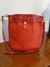 Authentic Red Gucci Drawstring Bucket Handbag Vintage