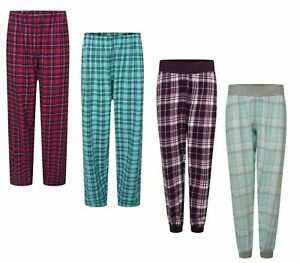 Women Cotton Pyjamas Ladies Checked Bottoms Pants Trousers Loungewear Night Pjs