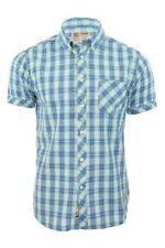 Camicie casual da uomo blu con Fantasia Scacchi, quadretti