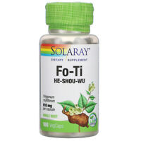 Solaray Fo-Ti 610 mg - 100 VegiCaps (free same day shipping)