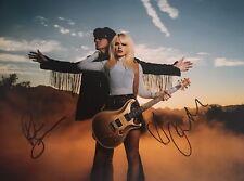Orianthi Panagaris Richie Sambora Dual Signed Autographed 11x14 Photo Coa