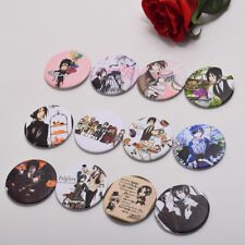 12pcs Anime Black Butler Bag Sebastian Ciel Phantomhive Buttons Badges Pins
