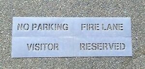 "3"" 4 Piece Parking Lot Stencil Kit"