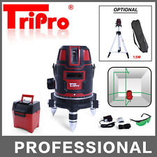 SELF LEVELLING CROSS ROTARY GREEN LASER LEVEL MULTI 3 LINES PLUMB DOT TRIPOD