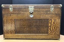 Oak Tool Machinist Box By H. Gerstner 11 Drawers  With Tools By L.S. Starrett