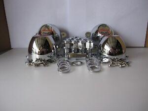 4 5 EAR CAPS 5 LUG ANSEN SPRINT WHEELS 2 1/8 HOLE MOUNTING SPACE W/ 20 LUGNUTS