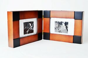 solid WOOD FOLDING EXPANDING DESIGNER PHOTO wooden FRAME fit 6*4 photos
