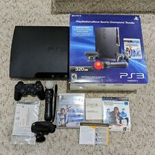 Sony PlayStation Move Sports Champions Bundle 320gb Console PS3 CECH-3001B w/Box