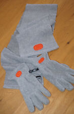 New NIKE Unisex Fleece GLOVE and SCARF Set Grey Adult Small