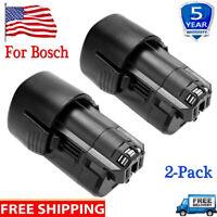 2x 12V 12 Volt Max Li-ion BAT411 Battery for Bosch BAT411 BAT412 BAT413 26073368