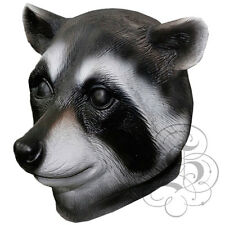 Latex Full Head Animal Cosplay Woodland Raccoon Fancy Dress Carnival Party Mask