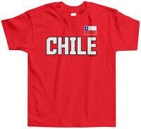 Threadrock Kids Chile National Team Toddler T-shirt Chilean Flag Pride Soccer